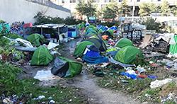 Camp de réfugiés en France